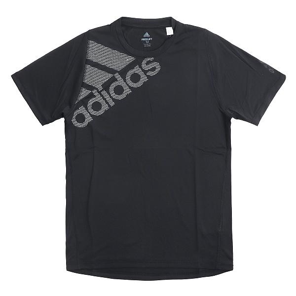 아디다스 빅 로고 블랙 반팔 티셔츠