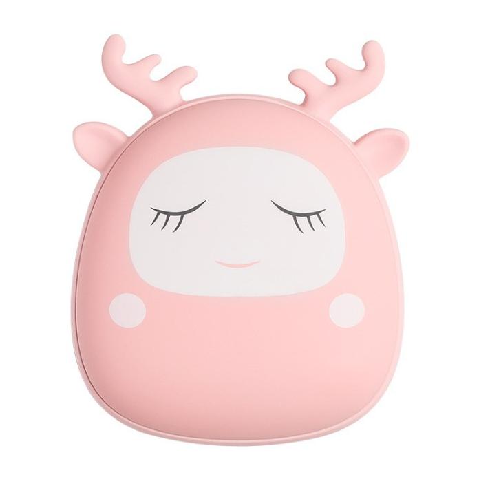 손난로 4000Mah 보조배터리 크리스마스선물 충전식 휴대용 대용량 핑크, 단일상품 핑크