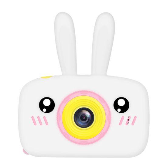 MMN 어린이 카메라 HD디지털 귀여운 동물 토끼 캐릭터 디지털카메라, 화이트32G