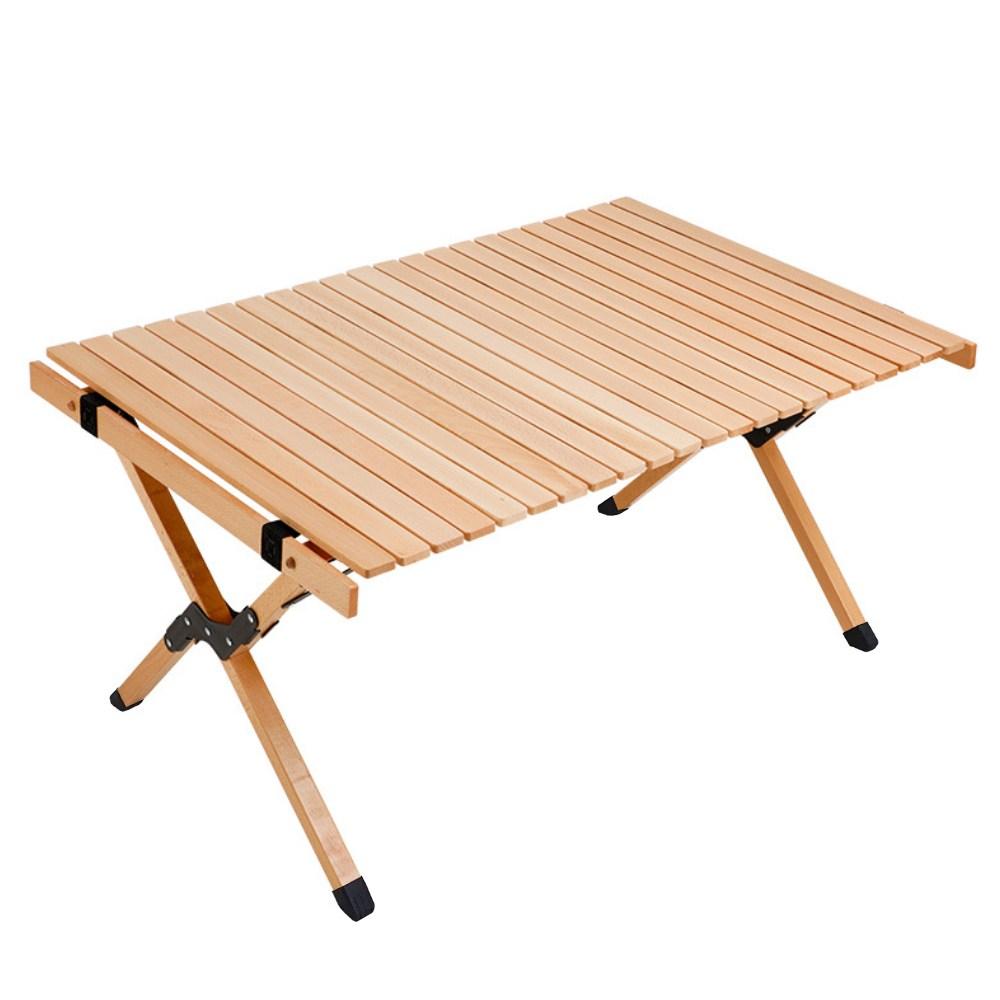 메이리앤 우드롤테이블 캠핑 테이블 느티나무 고급형