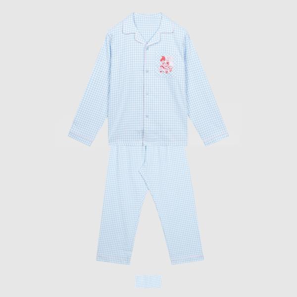 스파오 (트롤 X 레드벨벳) 레베럽 체크 잠옷(BLUE)_SPPPA4TU12
