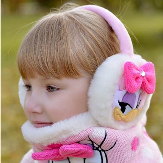 MINI Q BIG 여아귀마개 디즈니귀마개 (DS0053) 데이지덕리본귀마개 Daisy Duck Ribbon Ear-muff