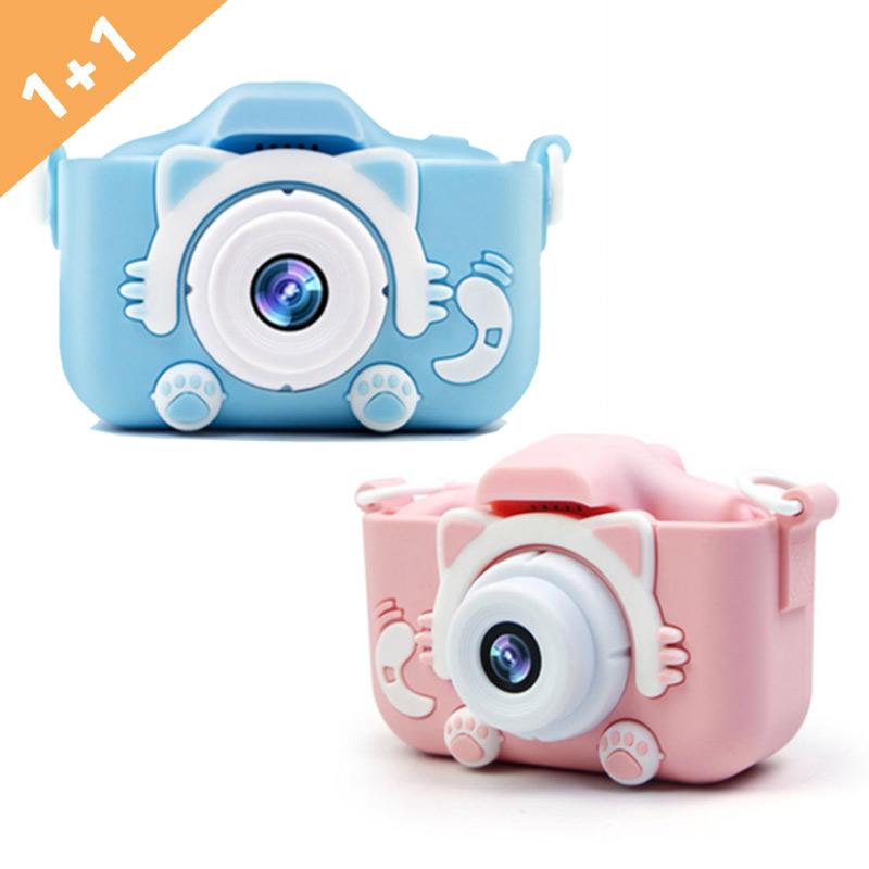 디지털 카메라고양이발넥스X5S 화소2000만 화소미니디카, 03_블루+블루