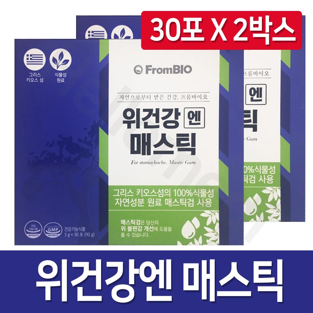 프롬바이오 위건강엔 매스틱 15포 X 4개, 3g, 60포