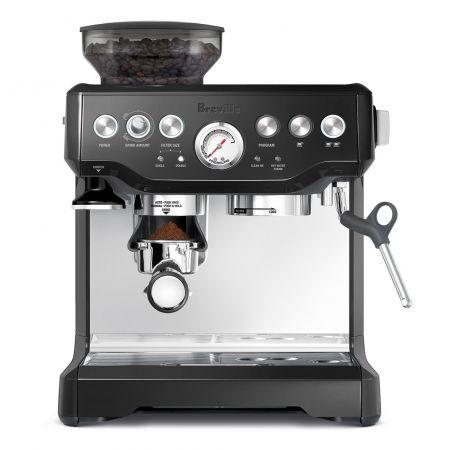 Breville BES870BSXL The Barista Express Coffee Machine Black Sesame PROD191588305, Stainless Steel + Knock Box Mini Bundle_-Espresso Machine