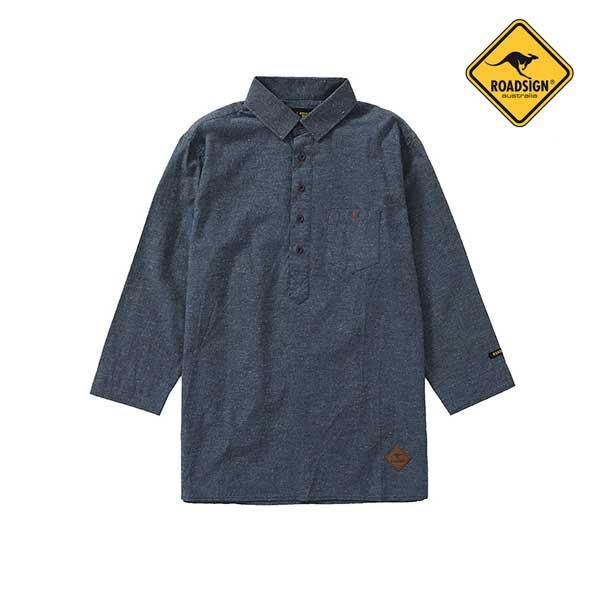 로드사인 [로드사인] P 남성 데님 7부 셔츠-RCSX201A_BL