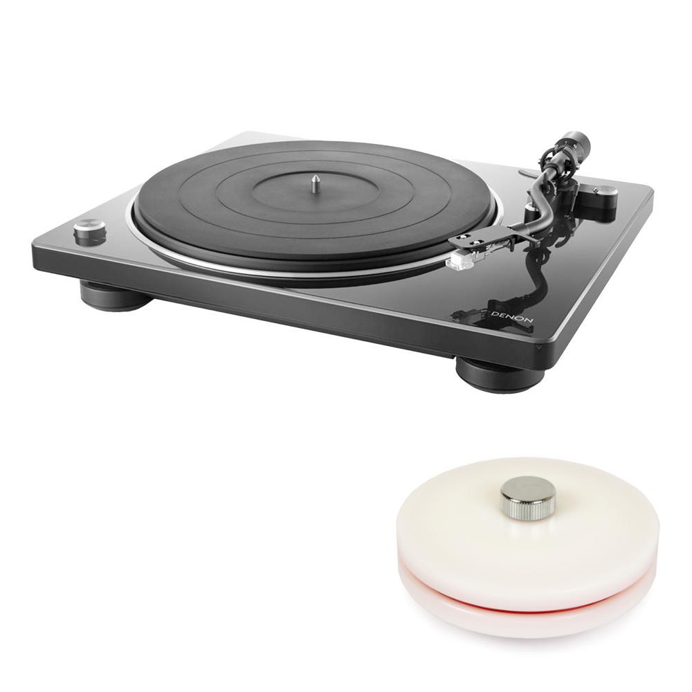데논 DP-400 턴테이블 + LP 라벨보호기, 블랙