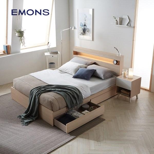 에몬스 클레어 에디션 침대 슈퍼싱글(SS), 메이플