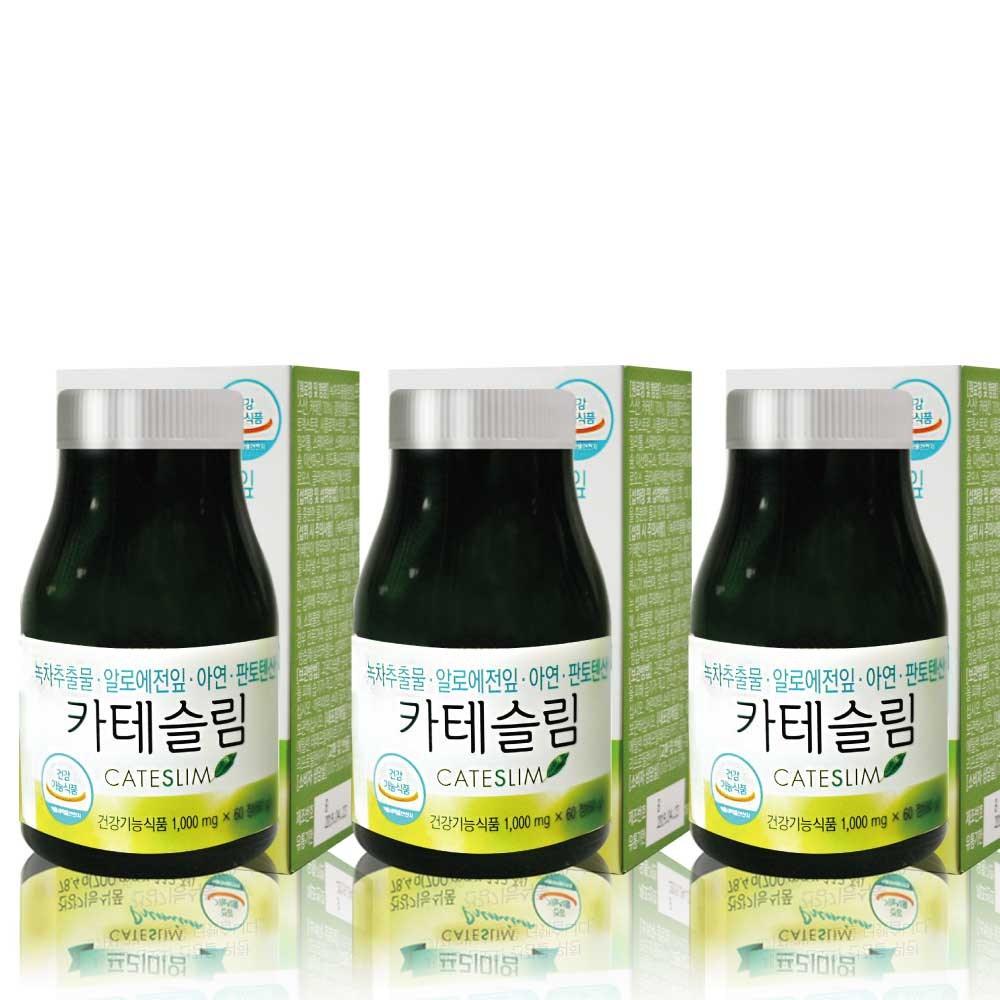 (3달)카테슬림 다이어트보조제 칼로리컷팅제 카테킨 녹차추출물, 1병, 60g
