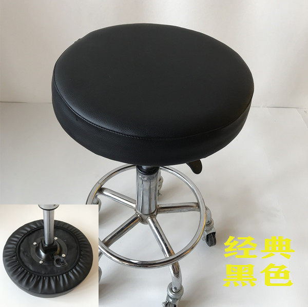 안마매트 PU의자커버 둥근의자 매트의자 스킨 의자시트 보조스펀지 매트 원형의자 매트미끄럼방지, T02-직경 35cm옆 10cm, C10-블랙색 (POP 5583659812)