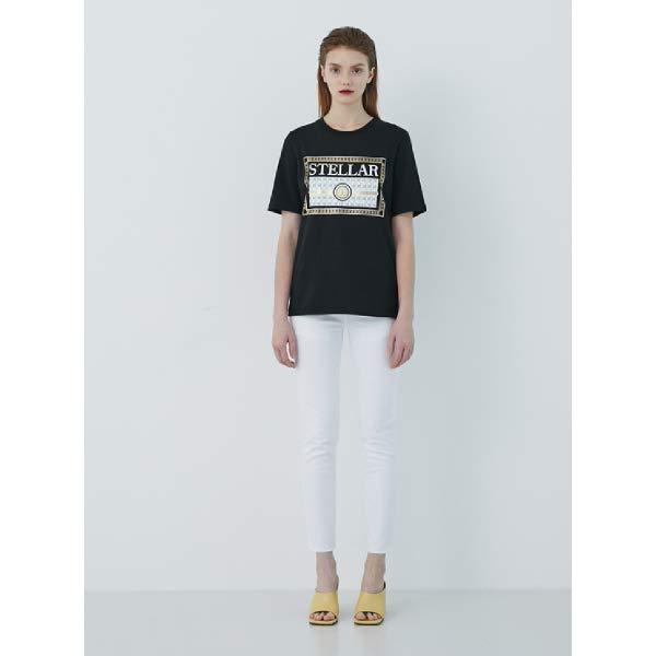 [현대백화점][에고이스트] (EM2OTH02 J) Blue Label 텍스트 레터링 아트웍 반팔 티셔츠
