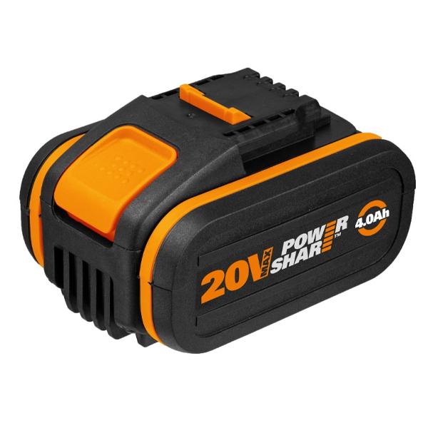 웍스 WORX 배터리 20V 4.0Ah 오렌지 리튬이온 WA3553 충전공구 전동공구 악세사리 부속, 단품