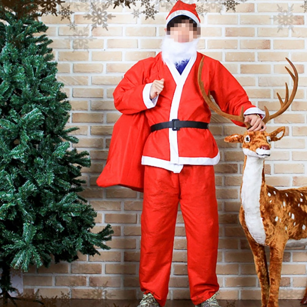 남자 산타복 SET 성탄절 산타할아버지 옷 산타복장