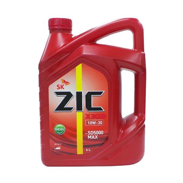 ZIC X3000 10W30 6L 디젤 엔진오일, 지크 X3000 10W30_6L