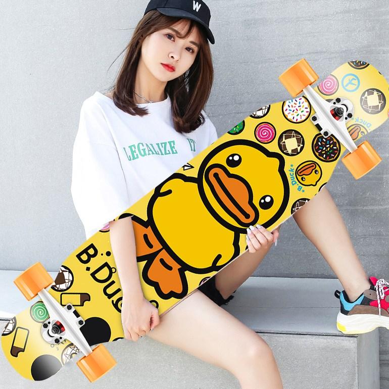워니별 댄싱 초보자 입문용 롱보드 스케이트보드 42인치, B5