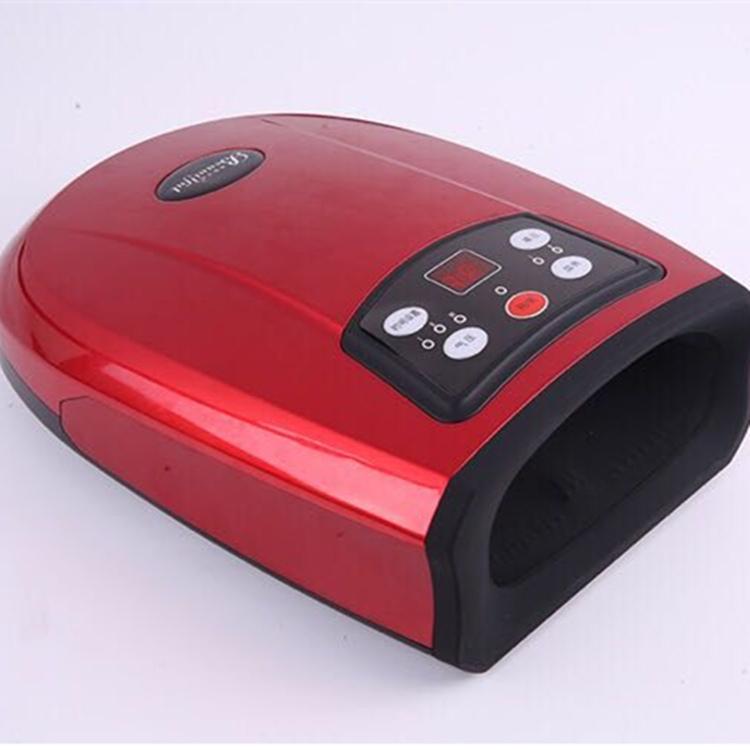 무선 온열 핸드케어 피로 지압 손 마사지 기계 안마기, [플러그인] 레드 (POP 5290875152)