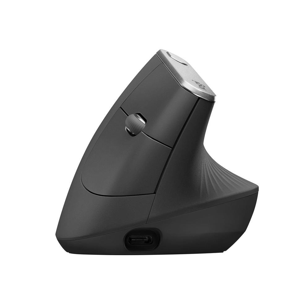 로지텍 MX vertical 버티컬 인체공학 무선 마우스, 블랙, LG-MXVertial-B