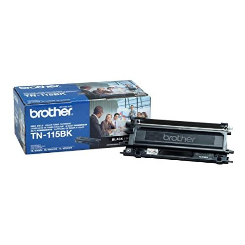 Brother TN115BK High Yield Black Toner Cartridge - Retail Packaging, 본문참고, 옵션 2 Style = Black Toner