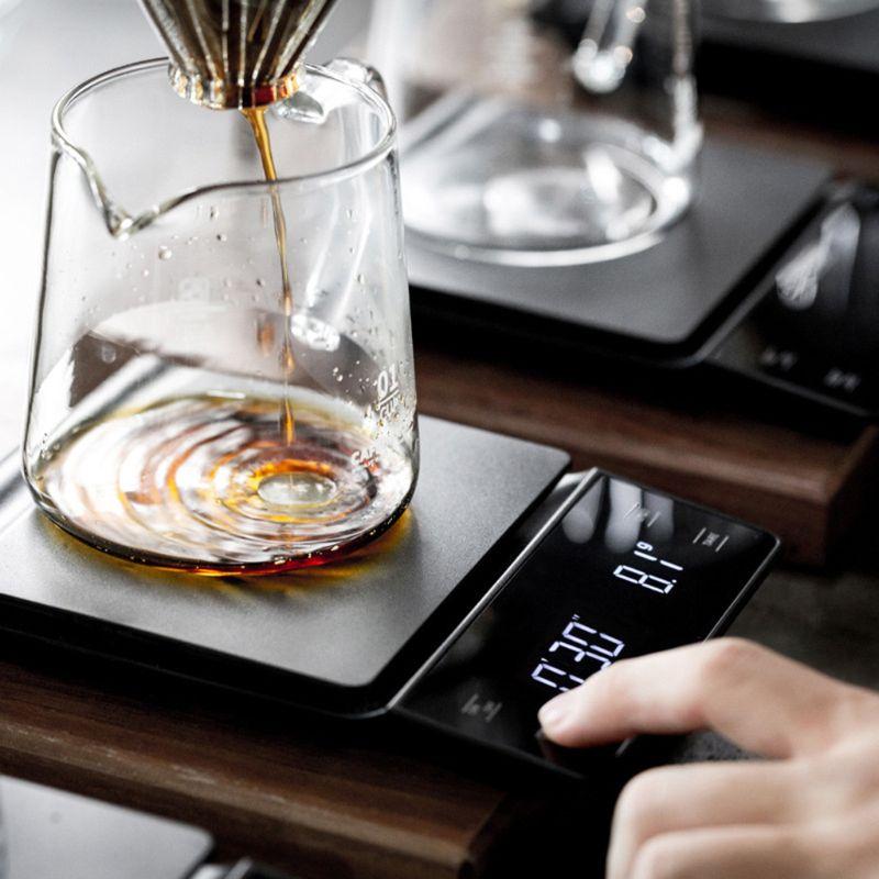 LED 커피 저울 타이머 3kg/0.1g 핸드드립 디지털 깔끔한 디자인, 한개옵션0