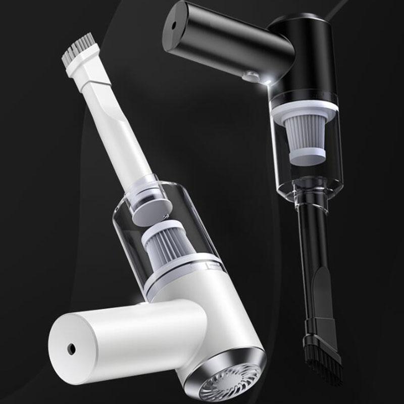 Leading 휴대용 미니 핸디 무선 청소기 통용 충전식 XD2311, 블랙