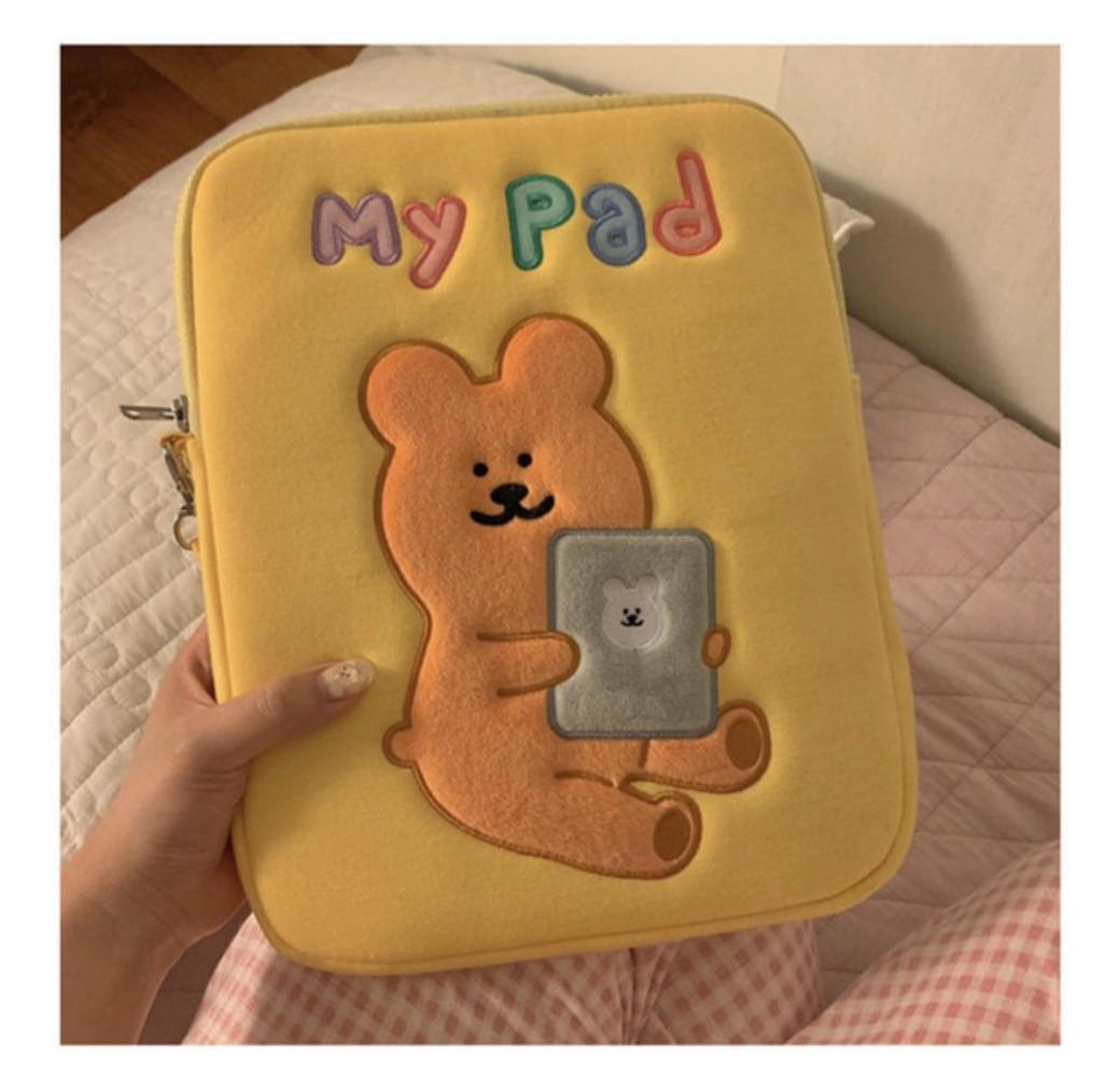 아이패드 프로 2세대 3세대 4세대 11인치 태블릿 커버 가방, 노랑
