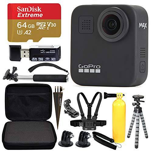 고프로 MAX 360 Sports 액션 카메라+ SanDisk Extreme 64GB microSDXC+ 탑 V, 상세내용참조