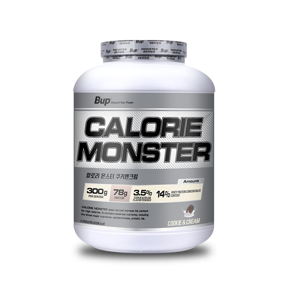 뉴트리션스토어 BUP 칼로리몬스터 쿠키앤크림 체중증가 게이너, 1통, 4kg