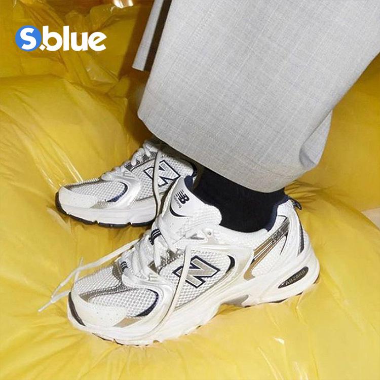 여성용스니커즈 New Balance MR530남녀 복고 운동화 화이트실버 메쉬원단 아버지신발 러닝 캐주얼신발