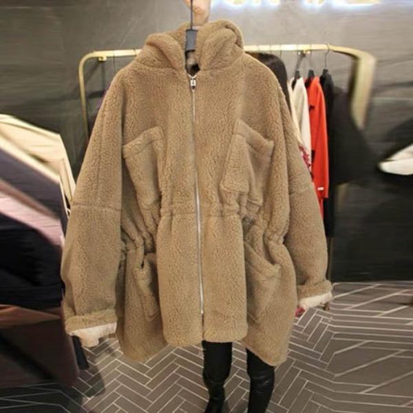 가바바 여성 겨울 숏무스탕 펀하게 입기 좋은 깜찍깜찍 패치포켓 포인트 후드 데일리 양털무스탕 G41226