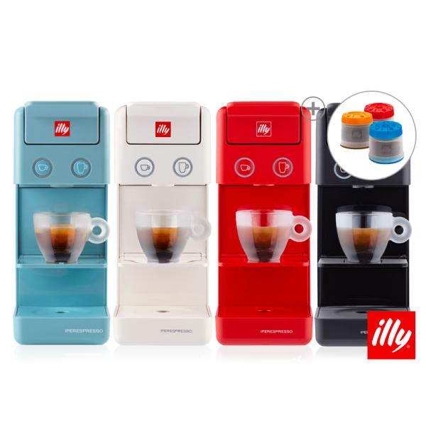 illy 일리 Y3.2 캡슐 커피머신 커피 메이커 블랙 화이트 레드 블루, Y3.2 블랙