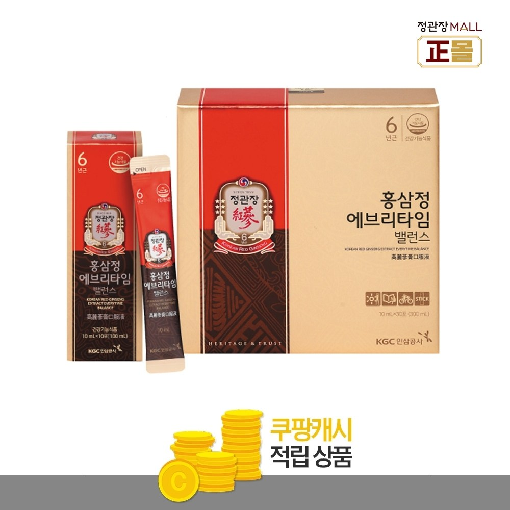 정관장 홍삼정 에브리타임 밸런스, 30포
