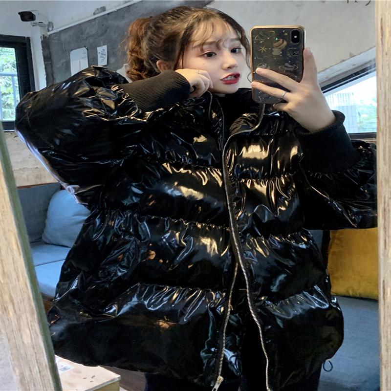 Qterra(특허브랜드) 패딩 코트 여성 루즈핏 미디 겨울