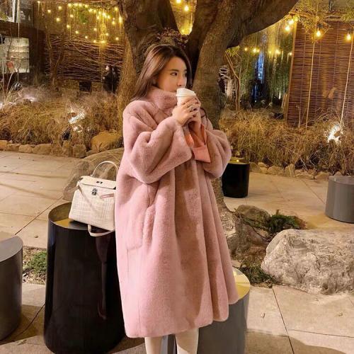 오늘만 국내배송 아론 퍼 양털코트 여성 베이직 코트 겨울 기본 뽀글이 롱코트