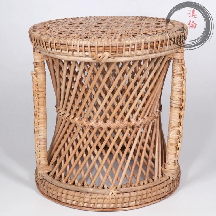 라탄 스툴 미얀마 수제 의자, 新높이30cmX30cm