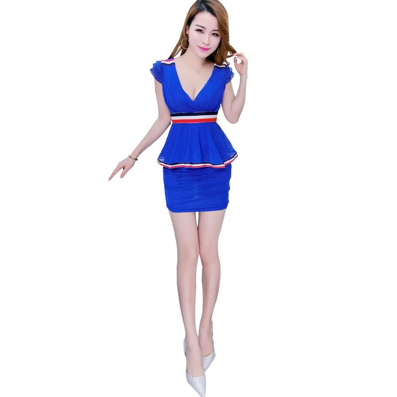 족욕 마사지사복 유니폼 슬림 배가리기 섹시 원피스다 슬림핏 사우나 마사지 스파 카고, M 블루 타입