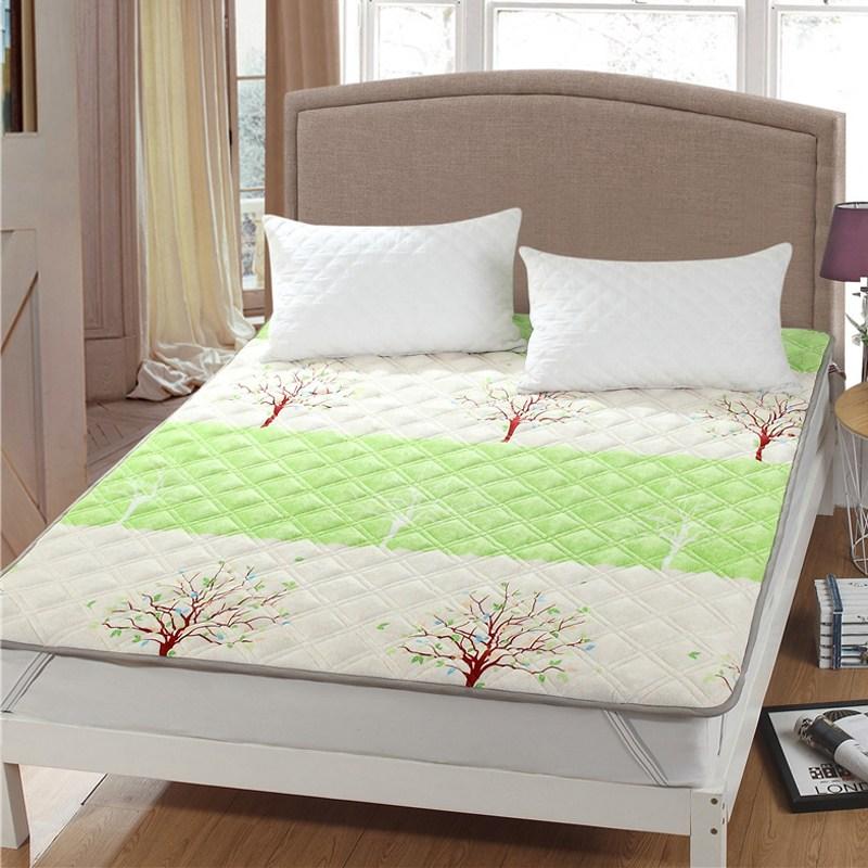 토퍼 템퍼 매트리스 침구 기타 겨울 쿠션 접이식 침대 기모 융털 매트, AO_1.0 x 2.0m