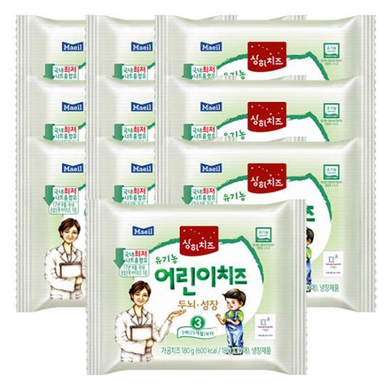 [매일유업] 3STEP 유기농 상하 아기치즈 3세부터 100매, 3단계 어린이치즈