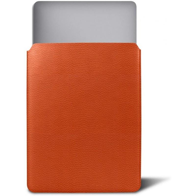 루크린 - 맥북 호환 커버 - 오렌지 - 가죽 곡물©, 단일상품