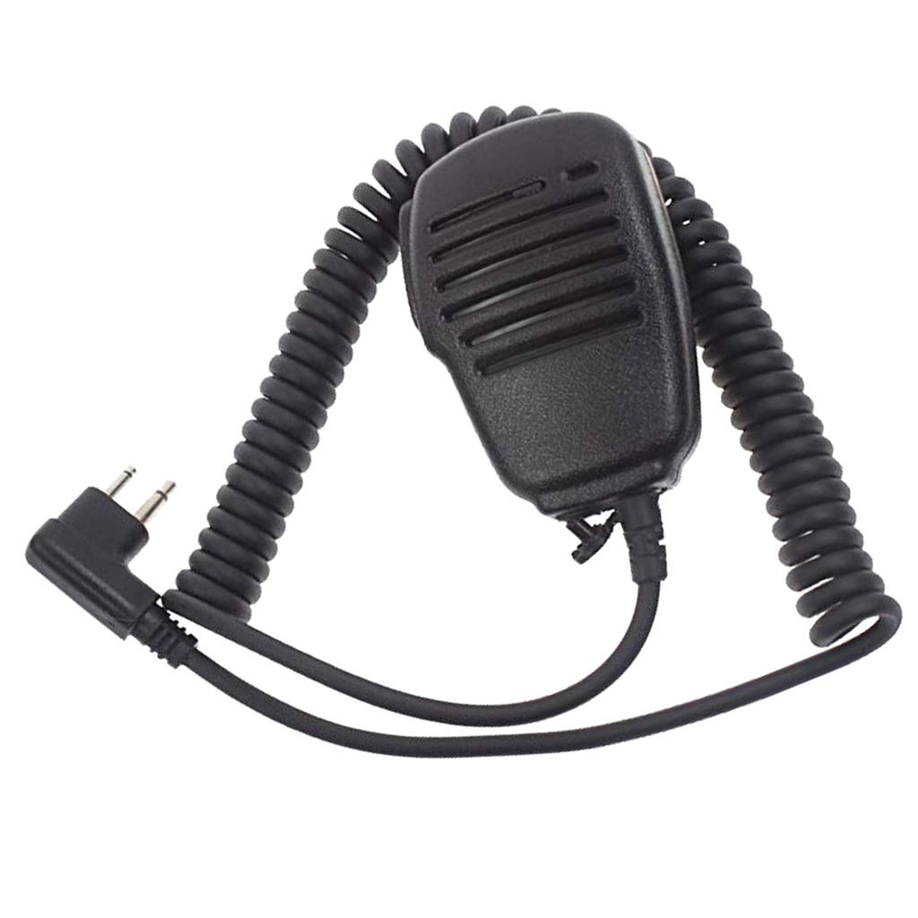 Royalways 모토로라 라디오 용 2 핀 숄더 리모컨 마이크 마이크 ptt pmr446 무전기 대화 형 핸드 헬드 스피커 마이크 (POP 2088633269)