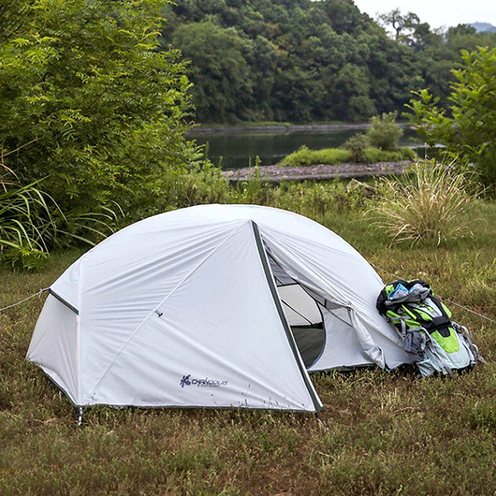 초경량 텐트 (2인용) 백패킹 캠핑 피크닉 낚시 여행 원터치 돔텐트