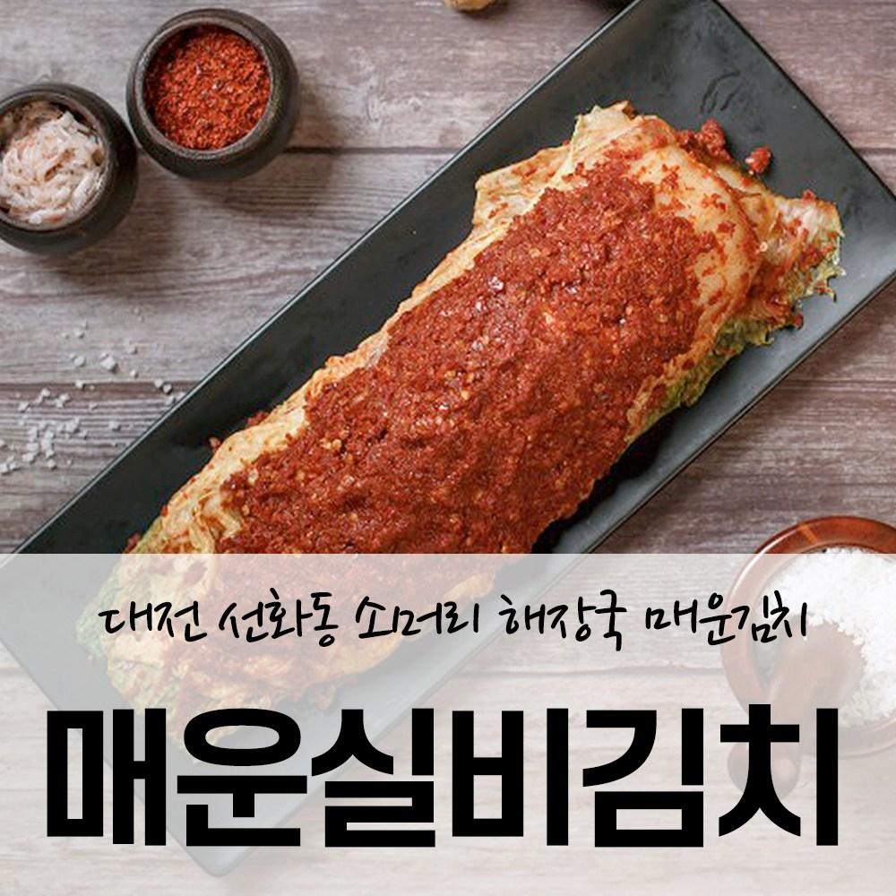 대전 선화동 소머리해장국 매운김치 매운실비김치, 1박스, 1.3kg