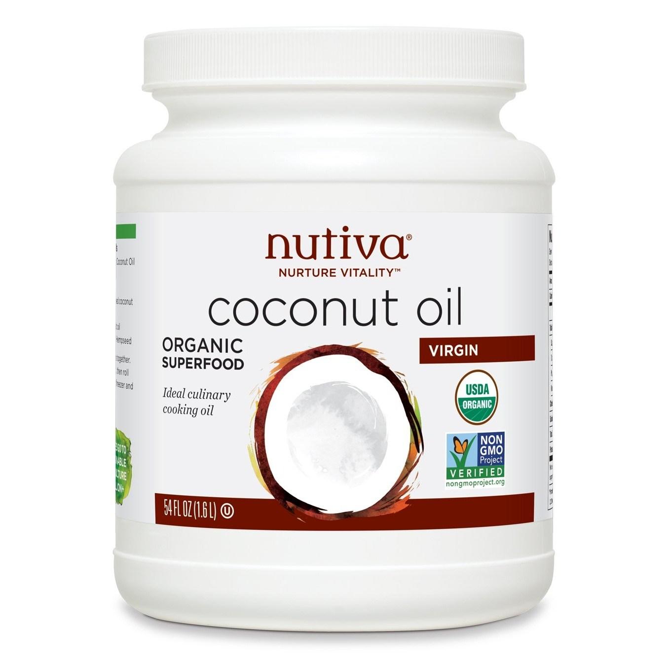 누티바 코코넛 오일 버진, 1.6L, 1개