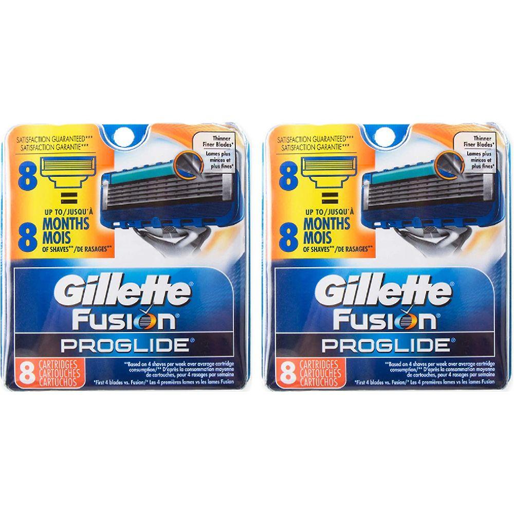 Gillette 질레트 퓨전 ProGlide 수동 면도기 교체 카트리지 (16) 백작 (8)의 2 개 개, none, 상세페이지참조