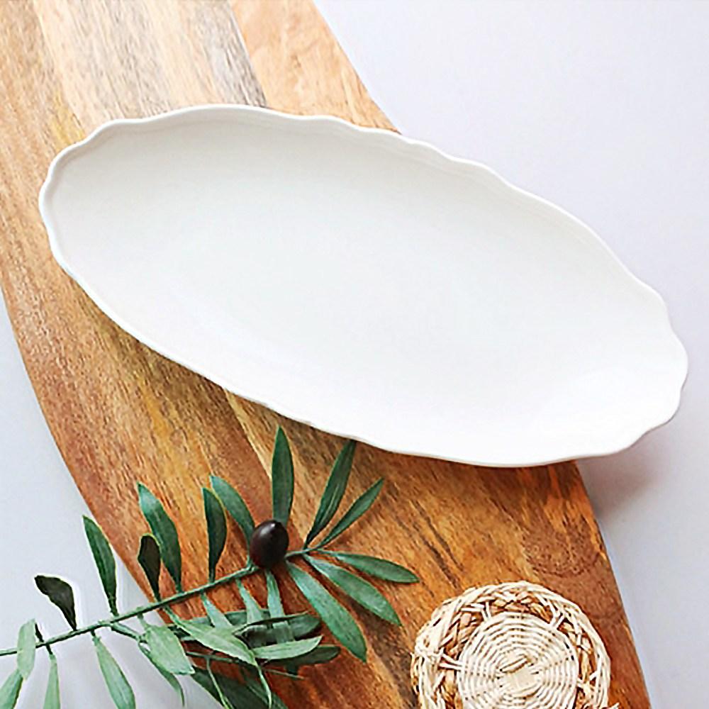 그레이스 타원접시 수입그릇 식빵접시 레트로그릇 명품그릇
