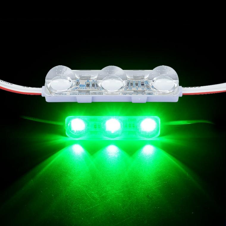 국산24V용 렌즈형 5050 3칩 LED바 3구모듈 그린LED - (1개가격) 추천 파는곳, 상세페이지 참조
