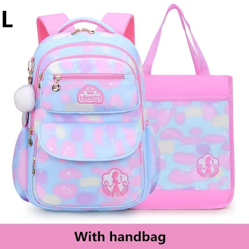 2 크기 귀여운 여자 학교 가방 어린이 초등학교 배낭 가방 책 가방 공주 Schoolbags Mochila Infantil|학교가방|