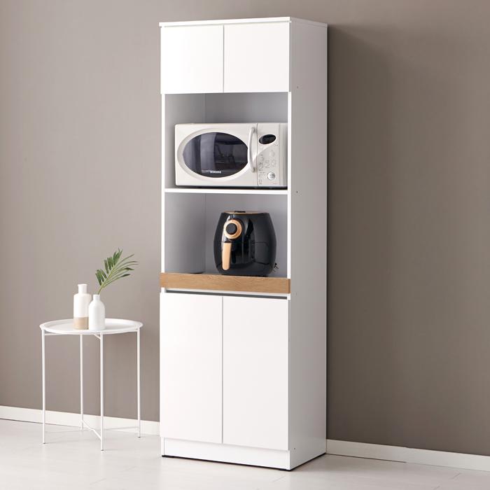 바로방가구 히트 1800 키큰 주방 밥솥 밥통 에어프라이어 전자렌지 수납장 렌지대, 화이트오크