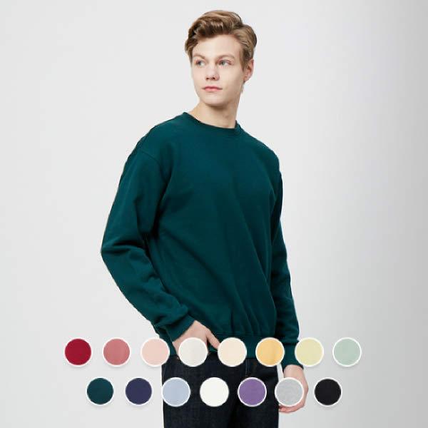 [현대백화점][지오다노] 020510 언브러시드 크루넥 스웨트 셔츠 01020510