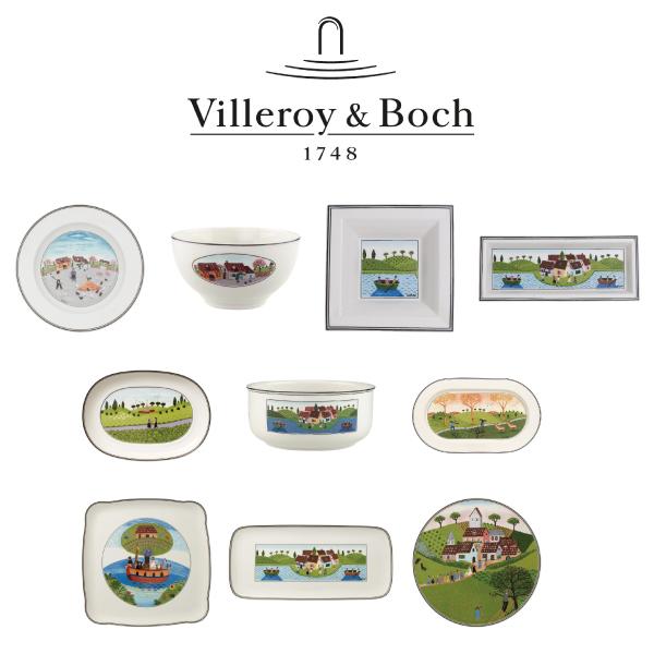 빌레로이앤보흐 디자인나이프 선물용 10종/독일정품, 디자인나이프 타원형접시 20cm