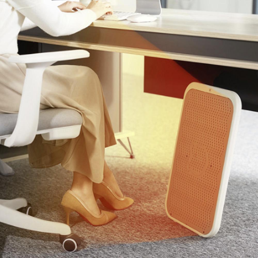 Bear 리틀 베어 발난로 발히터 사무실 온열 가정용 발보온기 DNQ-A02X1, 화이트브라운_White Brown+국내용고급형플러그